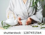 close view of female hands... | Shutterstock . vector #1287451564