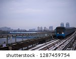 metro train is arriving to the... | Shutterstock . vector #1287459754