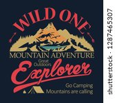 adventure t shirt print.... | Shutterstock .eps vector #1287465307