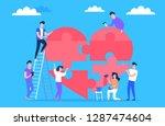 people volunteer work for good... | Shutterstock .eps vector #1287474604