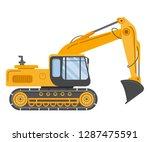 construction track bulldozer... | Shutterstock .eps vector #1287475591