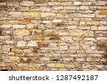 stone brick wall of one of the... | Shutterstock . vector #1287492187