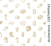 cutlery  drinks  seafood and... | Shutterstock .eps vector #1287499561
