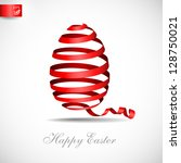 Easter Ribbon Egg. Vector...