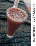 delicious fruit drink  | Shutterstock . vector #1287523144