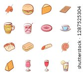 american food  cheeses  drinks  ... | Shutterstock .eps vector #1287525304