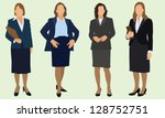 business women | Shutterstock .eps vector #128752751