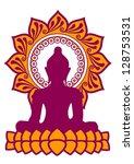 meditation   buddha   lotus... | Shutterstock .eps vector #128753531
