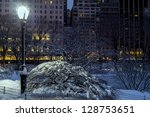 central park after snow storm... | Shutterstock . vector #128753651