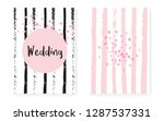 bridal shower card with dots... | Shutterstock .eps vector #1287537331