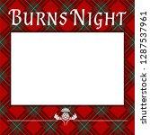 burns night  supper blank.... | Shutterstock .eps vector #1287537961