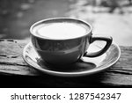 black and white photo of hot... | Shutterstock . vector #1287542347