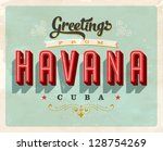 vintage touristic greeting card ... | Shutterstock .eps vector #128754269