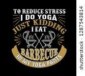 to reduce stress i do yoga ...   Shutterstock .eps vector #1287543814