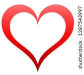 heart symbol icon   red... | Shutterstock .eps vector #1287543997