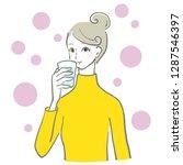 water drink woman | Shutterstock .eps vector #1287546397