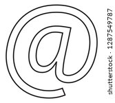 email thin line icon vector...