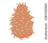 natural pine cone side view 2 | Shutterstock .eps vector #1287550564