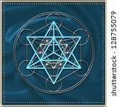 metatron  s cube   merkaba  ... | Shutterstock . vector #128755079