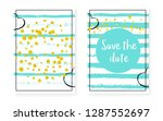 bridal shower card with dots... | Shutterstock .eps vector #1287552697