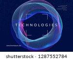 big data background. technology ...   Shutterstock .eps vector #1287552784