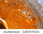 top view of bubbles in iced... | Shutterstock . vector #1287574141