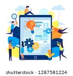 teamwork  brainstorm in the... | Shutterstock .eps vector #1287581224
