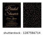 gold confetti bridal shower... | Shutterstock .eps vector #1287586714