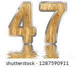 numeral 47  forty seven ... | Shutterstock . vector #1287590911