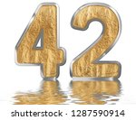 numeral 42  forty two ... | Shutterstock . vector #1287590914