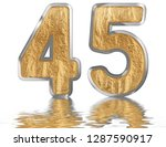 numeral 45  forty five ... | Shutterstock . vector #1287590917
