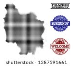 welcome composition of halftone ... | Shutterstock .eps vector #1287591661