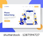 landing page template of mobile ... | Shutterstock .eps vector #1287594727