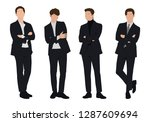 vector of young businessman ... | Shutterstock .eps vector #1287609694