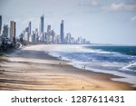 gold coast beach queensland... | Shutterstock . vector #1287611431