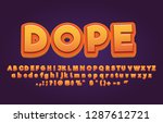 awesome cartoon alphabet vector ... | Shutterstock .eps vector #1287612721