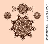 mehndi designs vector... | Shutterstock .eps vector #1287614974