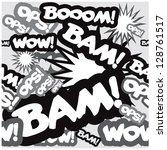 pop art comic book style... | Shutterstock .eps vector #128761517