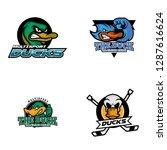 duck logo design | Shutterstock .eps vector #1287616624
