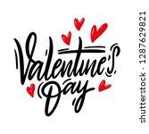 happy valentine's day hand...   Shutterstock .eps vector #1287629821