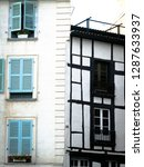 windows and shutters in a... | Shutterstock . vector #1287633937