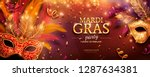 mardi gras party banner design... | Shutterstock .eps vector #1287634381