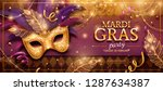 mardi gras party banner design... | Shutterstock .eps vector #1287634387