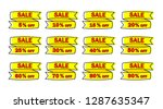 set of yellow sale icon banners ...   Shutterstock .eps vector #1287635347
