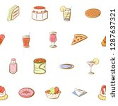 american food  cheeses  drinks  ... | Shutterstock .eps vector #1287637321