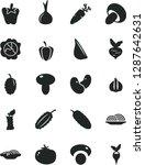 solid black vector icon set  ... | Shutterstock .eps vector #1287642631