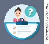 check survey. questionnaire...   Shutterstock .eps vector #1287642967