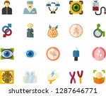 color flat icon set   holy... | Shutterstock .eps vector #1287646771