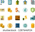 color flat icon set   safe flat ... | Shutterstock .eps vector #1287646924