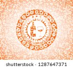 bottle and glass of wine icon... | Shutterstock .eps vector #1287647371